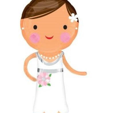 """40"""" Lovely Bride Foil  Balloon"""