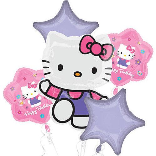 Happy Birthday Hello Kitty Balloon Bouquet