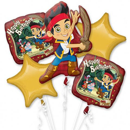 Jake and the Never Land Pirates Birthday Foil Balloon Bouquet