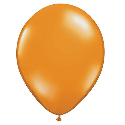 "12"" Jewel Crystal Latex Balloon - Mandarin Orange"