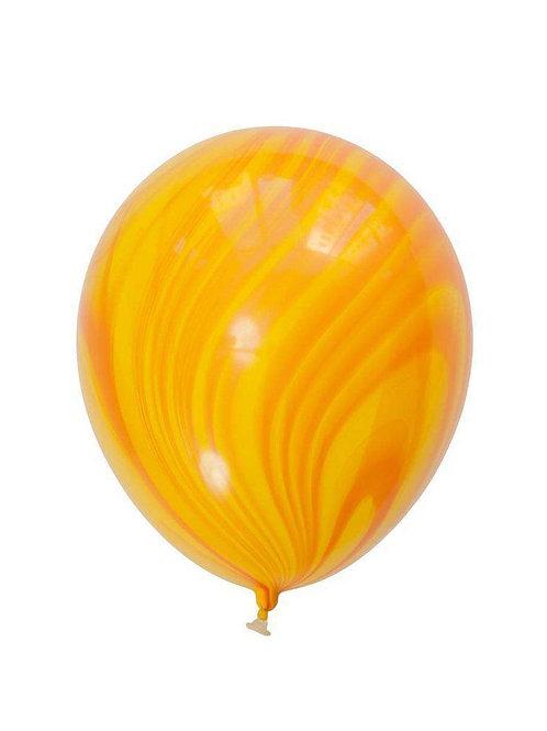 """11"""" Yellow Orange Marble Agate Balloon"""