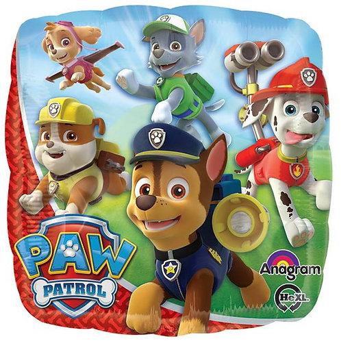 """18"""" Square Paw Patrol Foil Balloon"""