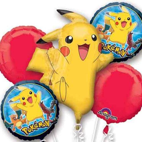 Pokemon Pikachu Balloon Bouquet