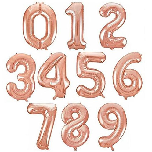 "40"" Rose Gold Number Foil Balloons ( 0-9 )"