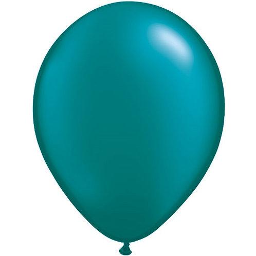 "12"" Metallic Pearl Latex Balloon - Teal"