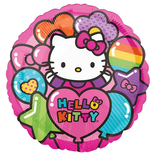 "18"" Rainbow Hello Kitty Foil Balloon"