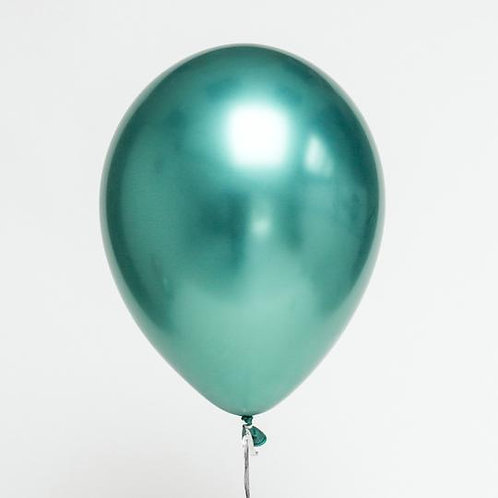 "11"" Chrome Green Balloon"