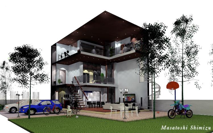 3階建て住宅プロモーション用CG