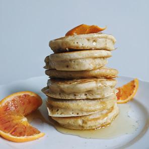 Orangen Kardamom Pancakes