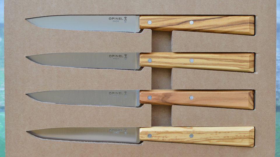 אופינל סט 4 סכיני שולחן 125 עץ זית טבעי