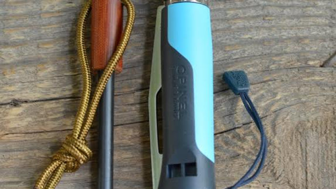 סט הדלקת אש עם סכין אקסטרים כחול     - N°8 Outdoor