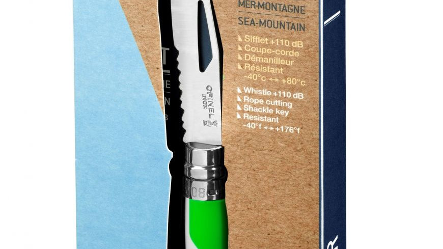 N°08 Outdoor Fluo Green סכין אקסטרים ירוק לבן