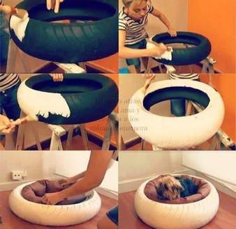 הכנת מיטה לכלב מצמיג