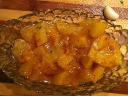 לימון כבוש חתוך לריבועים