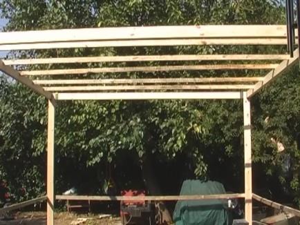 בניית הגג