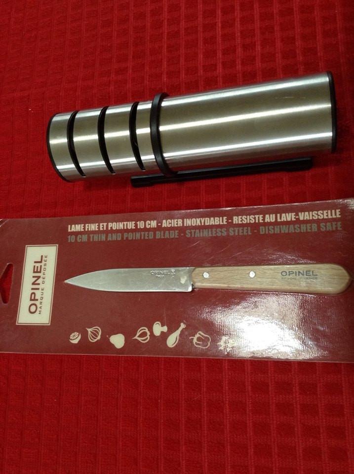 סכין אופינל 112 חותכת בקלות בצל ירוק