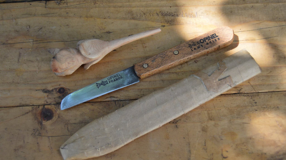 אופינל סכין חלקה 102 קרבון