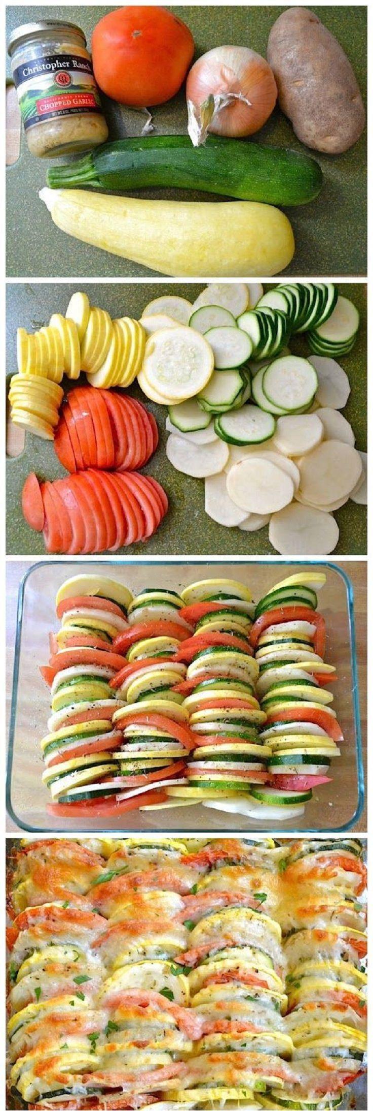 תבשיל ירקות בתנור חתוכות בסכין אופינל סנטוקו 119
