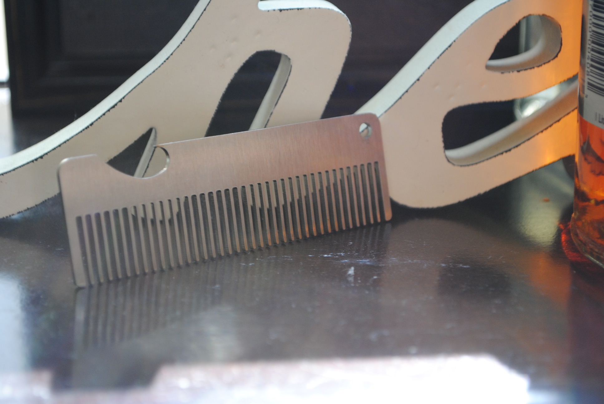 "4"" Beard Comb - Flat Laser"