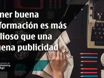 Tener buena información es más valioso que una buena publicidad