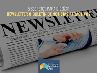 5 Secretos para diseñar Newsletter o Boletín de Noticias atractivos