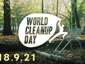#wekehr – Müllsammelaktion zum World Cleanup Day am Samstag, 18.9.2021 – alle Standorte