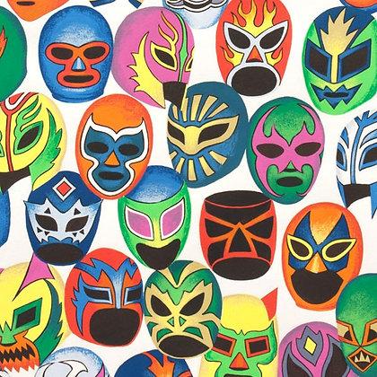 Mascara de Pelea Fabric by the Yard