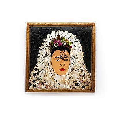 Frida Painted Mirror - Tehuana