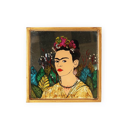 Frida Painted Mirror - Hand Earring
