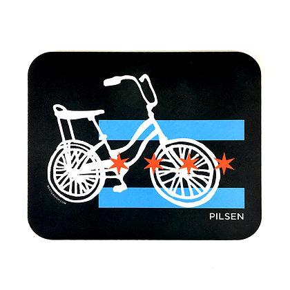 Chicago Flag - Pilsen Bike Mousepad