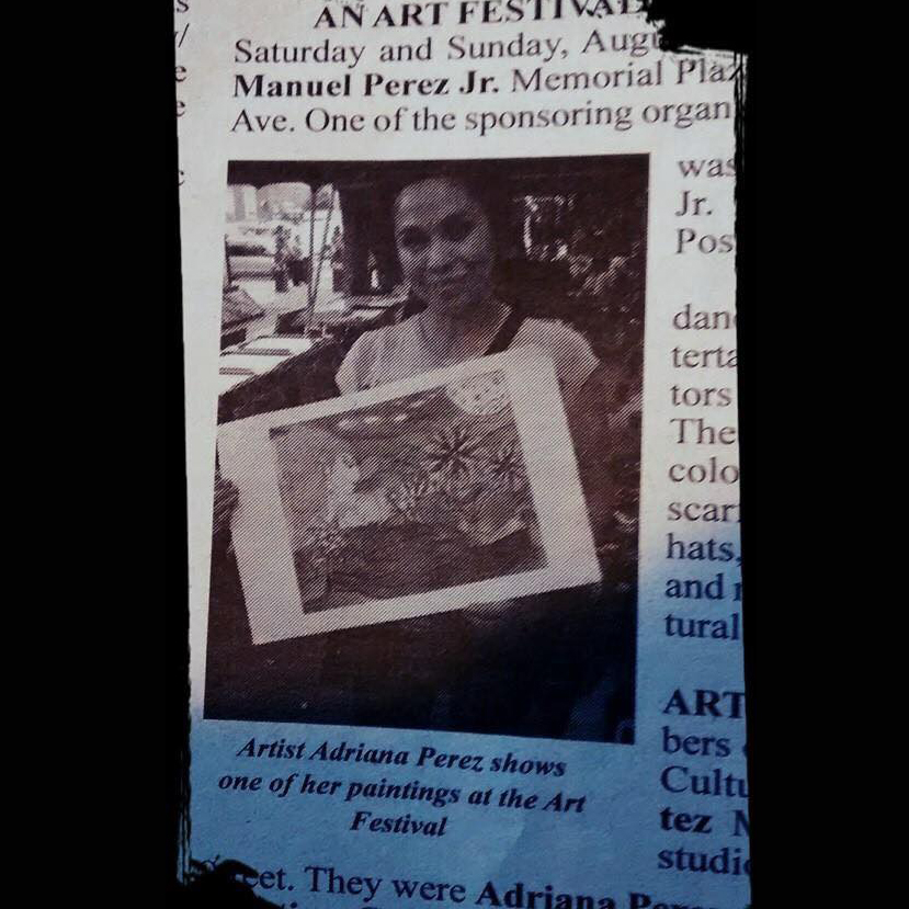 Newspaper Clipping Adriana Rivera