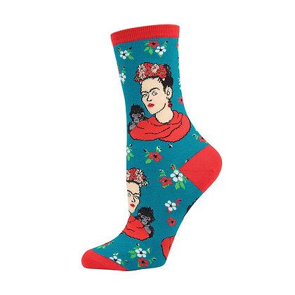 Frida Kahlo Portrait Socks - Women's