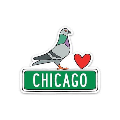 Chicago Pigeon Sticker