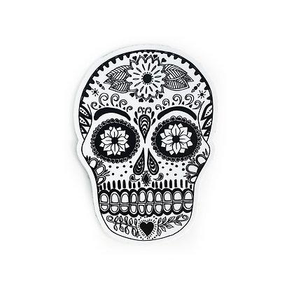 Sugar Skull B&W Sticker