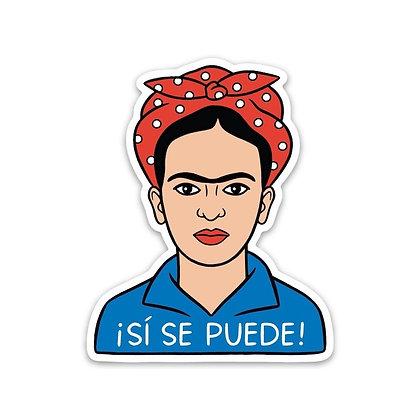 Frida - ¡Si Se Puede! Sticker