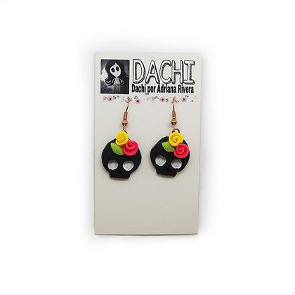 Small Skull Earrings - Black