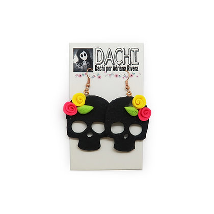 Skull Earrings - Black