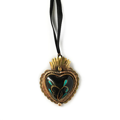 Gold-Tone Sacred Heart Pendant 2 - Small