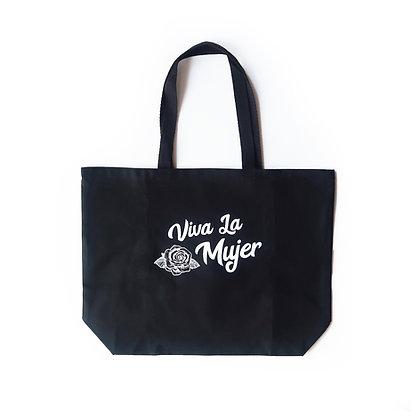 Viva La Mujer Tote Bag - Black