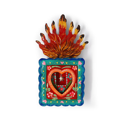 Heart Frame Tin Nicho - Star