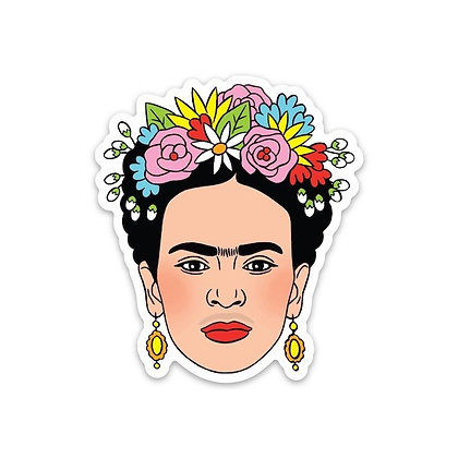 Frida Kahlo with Flowers Sticker