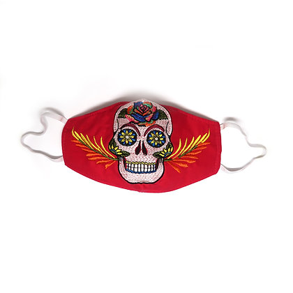 Adult Skull Face Mask - Red