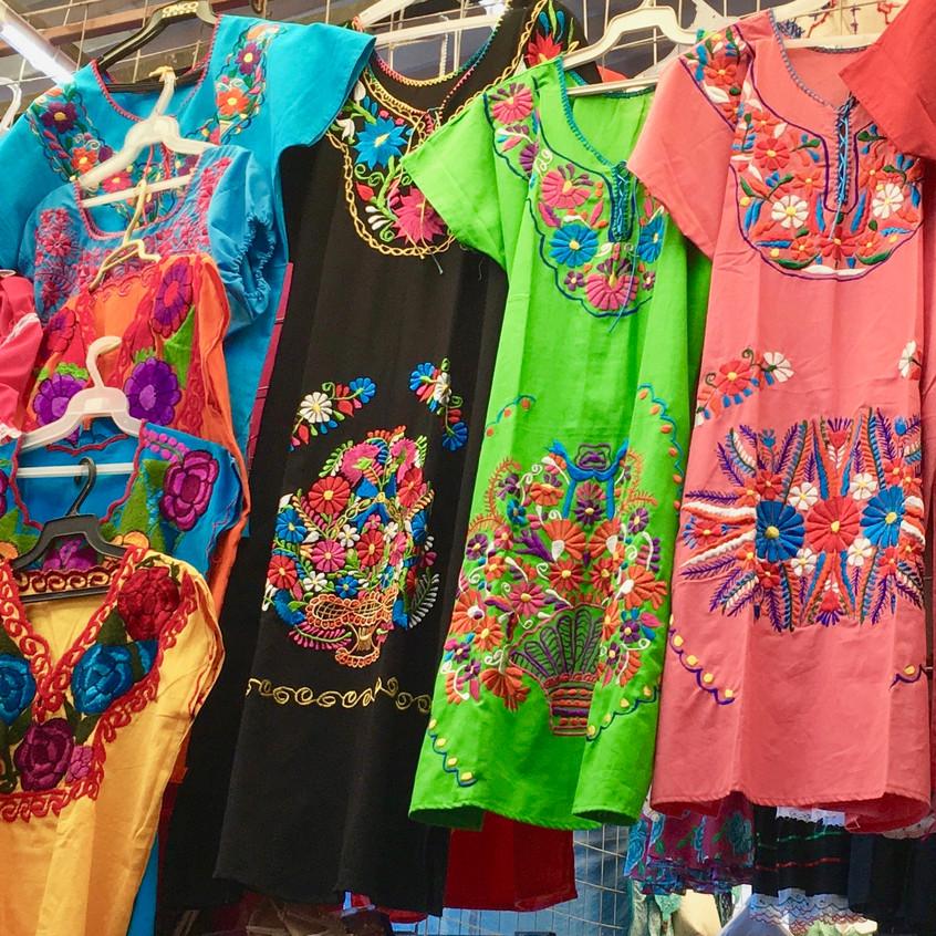 Dresses at the market