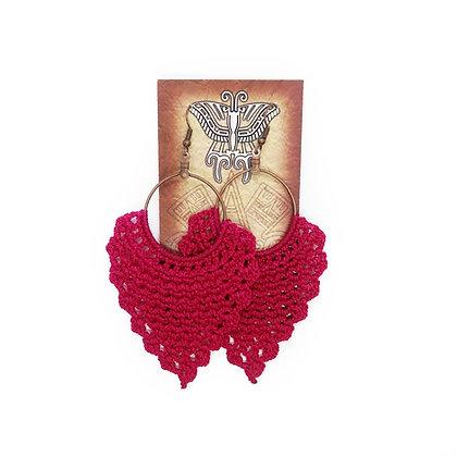 Crochet Earrings - Fuschia