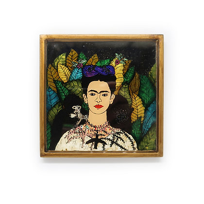 Frida Painted Mirror - With Monkey