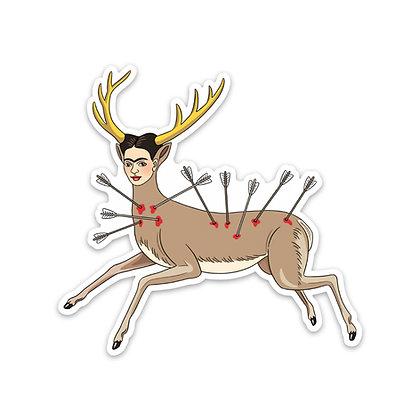 Frida Deer Sticker