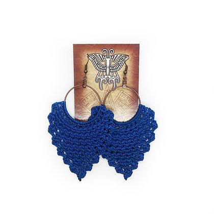 Crochet Earrings - Blue