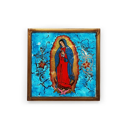 Guadalupe Glass Painting Wall Hanging
