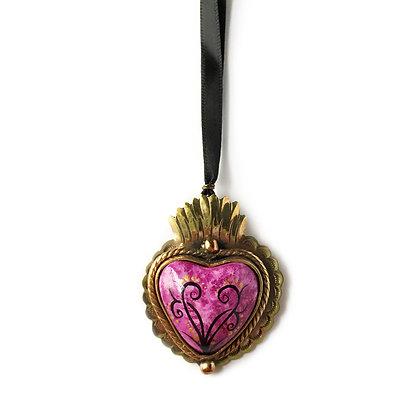 Gold-Tone Sacred Heart Pendant - Small