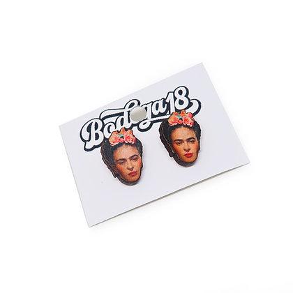 Frida Kahlo Stud Earrings - by Bodega18